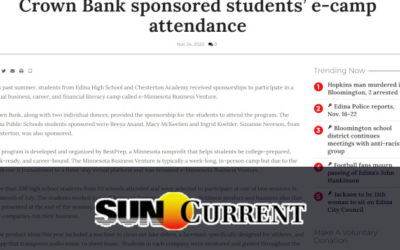 Crown Bank sponsored students' e-camp attendance